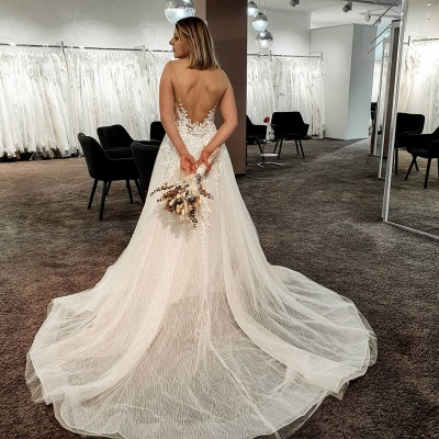 Gorgeous wedding dresses with lace | Wedding Dress A Line Online_4