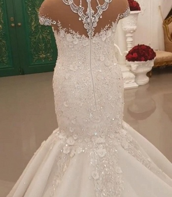 Designer wedding dresses with sleeves | Lace bridal mermaid_3