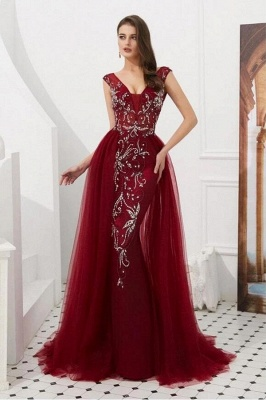 Wine red evening dresses long cheap | Buy evening wear online_1