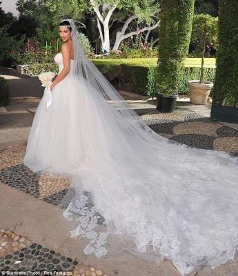Schöne Hochzeitskleider Prinzessin | Brautkleider Lange Schleppe_2