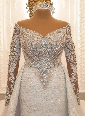 Designer Wedding Dresses A Line | Lace wedding dresses with sleeves_3