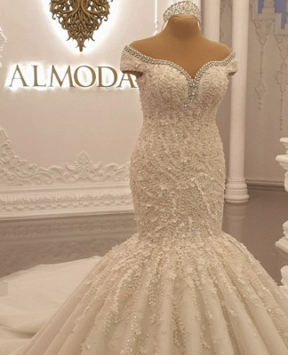 Buy luxury wedding dresses lace with sleeves mermaid wedding dress online_2
