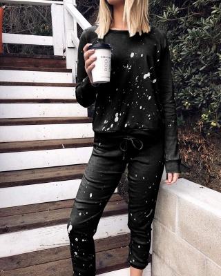 Warmer Winter Schlafanzug Damen | Pyjama Schwarz Günstig_5