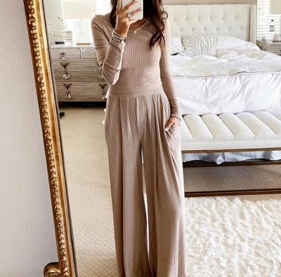 Langarm Schlafanzug Damen | Nachtwäsche Damen Elegant