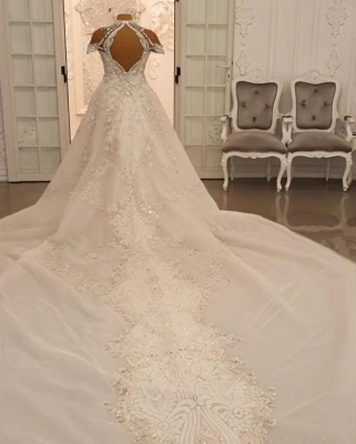 Vintage Brautkleid A Linie Spitze   Hochzeitskleider Luxus Online_2