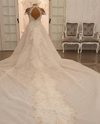 Vintage wedding dress A line lace | Wedding dresses luxury online_2