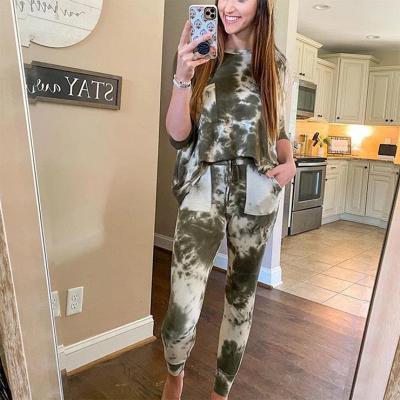 Pyjamahose Damen Print | Schlafanzug Damen Leopardenmuster_8