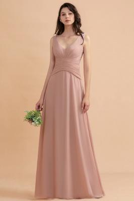 Brautjungfernkleider Lang Altrosa   Chifon Kleider Für Brautjungfern_1