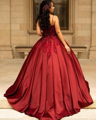 Modern evening dresses long red | High school ball gowns princess_3