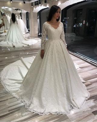 Extravagante Brautkleider Mit Ärmel | Hochzeitskleider Spitze Prinzessin_3