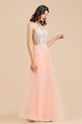 Designer evening dresses | Evening dress long pink_9