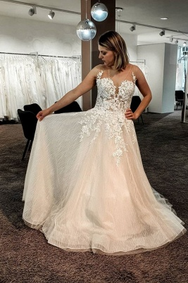 Gorgeous wedding dresses with lace | Wedding Dress A Line Online_1