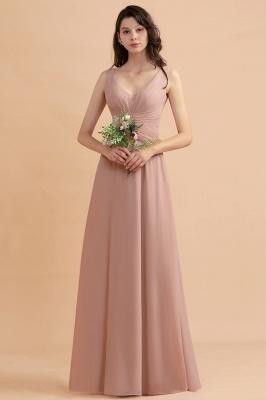 Brautjungfernkleider Lang Altrosa   Chifon Kleider Für Brautjungfern_7