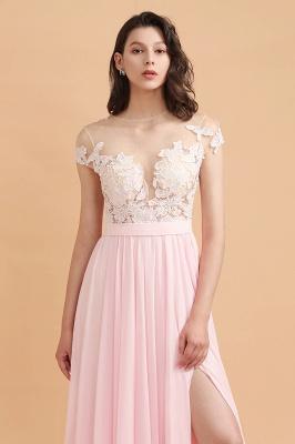 Elegante Brautjungfernkleider Lang Rosa | Günstige Hochzeitsgäste Kleider_9