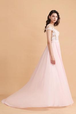Elegante Brautjungfernkleider Lang Rosa | Günstige Hochzeitsgäste Kleider_7