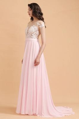 Elegante Brautjungfernkleider Lang Rosa | Günstige Hochzeitsgäste Kleider_5