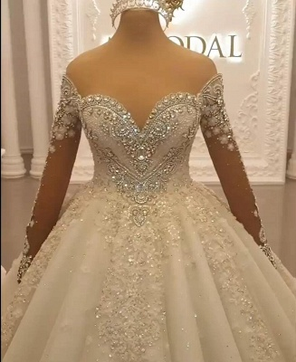 Luxury princess wedding dresses with lace bridal gowns cheap online_4