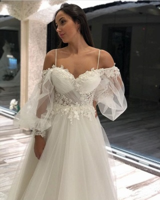 Simple wedding dresses with sleeves | Wedding Dresses Lace Online_4