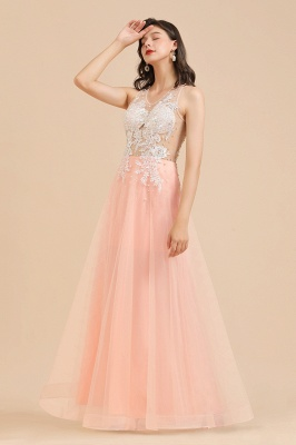Designer evening dresses | Evening dress long pink_10