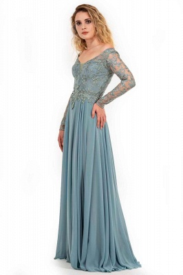 Designer Mother of the Bride Dresses Long Chiffon | Evening dress with lace sleeves_3