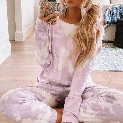 Schlafanzug Damen Rosa  | Pyjama mit Leggings