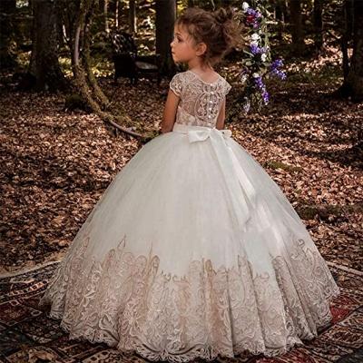 Blumenmädchen Kleider Hochzeit | Blumenmädchen Kleid Spitze_5