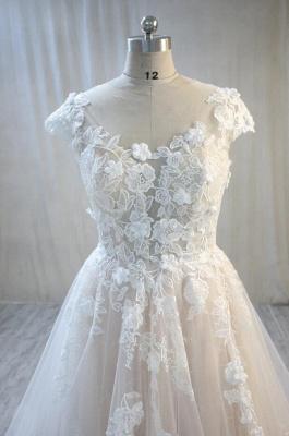 Elegante Hochzeitskleid A Linie mit Spitze | Brautmoden Online_3