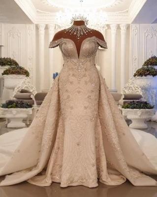 Vintage Brautkleid A Linie Spitze   Hochzeitskleider Luxus Online_1