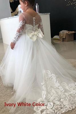 Wunderschöne Blumenmädchenkleider Günstig | Kinder Hochzeitskleider Online_1