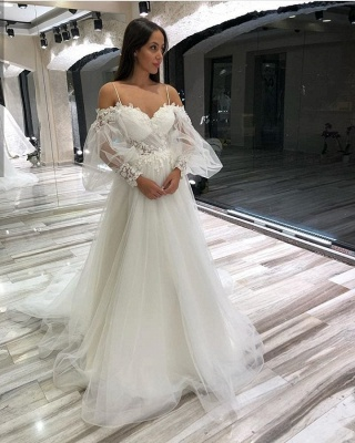 Simple wedding dresses with sleeves | Wedding Dresses Lace Online_2