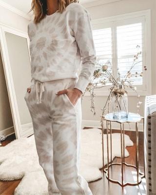 Weißer Pyjama Damen | Schlafanzug Lang mit Bündchen_2