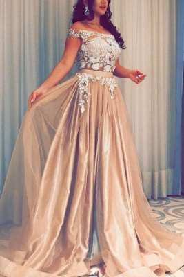 Simple evening dresses long cheap | Prom dresses with lace_1