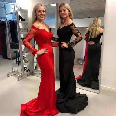 Designer Evening Dresses Long Black | Red evening dress online_2