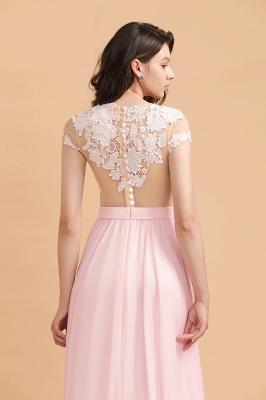 Elegante Brautjungfernkleider Lang Rosa | Günstige Hochzeitsgäste Kleider_10