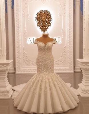 Buy luxury wedding dresses lace with sleeves mermaid wedding dress online_1