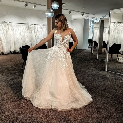 Gorgeous wedding dresses with lace | Wedding Dress A Line Online_2
