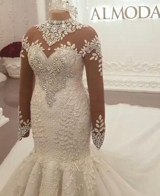 Brautkleider Mit Ärmel | Hochzeitskleider Meerjungfrau Prinzessin_2