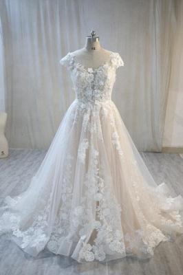Elegante Hochzeitskleid A Linie mit Spitze | Brautmoden Online