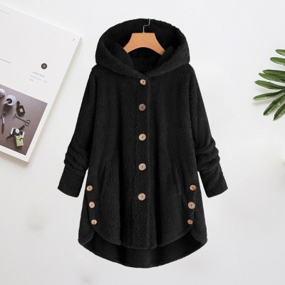 Long women's coat winter | Gray women's coats cheap_2