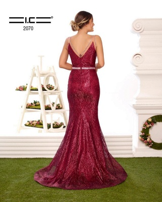 Designer evening dresses long glitter | Buy Red Prom Dresses_3