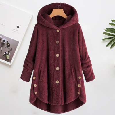 Long women's coat winter | Gray women's coats cheap_5