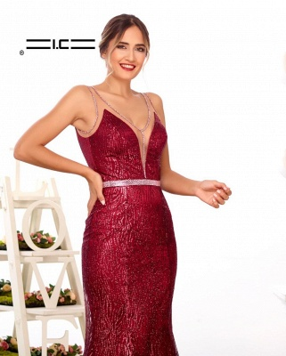 Designer evening dresses long glitter | Buy Red Prom Dresses_2