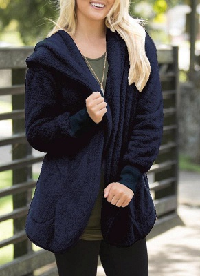 Plain black ladies coat | Coat wool cheap_1