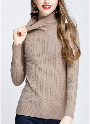 Sweatshirt gray | Knit sweaters women cheap online_5