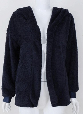Plain black ladies coat | Coat wool cheap_5