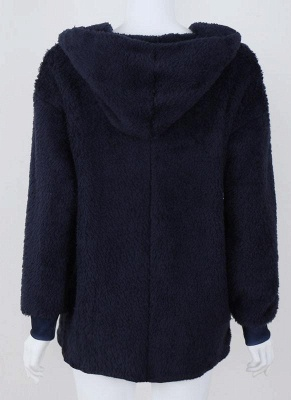 Plain black ladies coat | Coat wool cheap_4