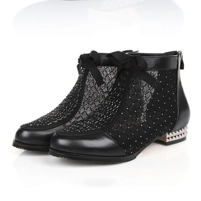 Platform boots black | Ankle boots women with heels_4