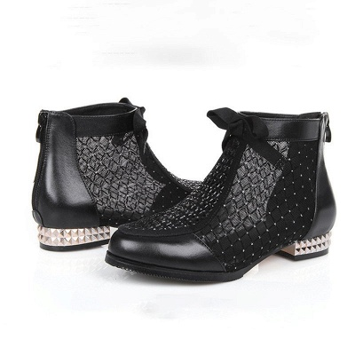 Platform boots black | Ankle boots women with heels_9