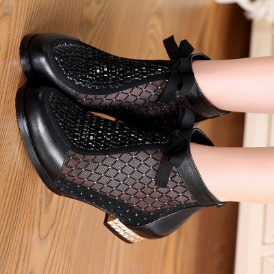 Platform boots black | Ankle boots women with heels_10