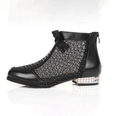Platform boots black | Ankle boots women with heels_7